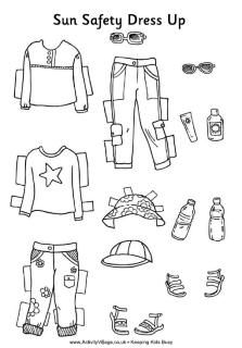 Sun safety activity sheet for the kids. Get them involved