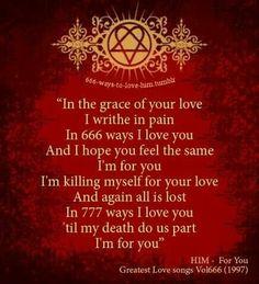 Ville Valo/HIM lyrics. ♥♥♥. #ville valo #HIM