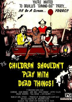 Children Shouldn't Play With Dead Things 19 Awful(ly Funny) Horror Movie Titles Horror Movies Funny, Zombie Movies, Scary Movies, Horror Movies, Funny Horror, Horror Pictures, Movie Posters Vintage, Fantasy Movies, Horror Posters