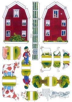 printable houses | Link: Swedish.Farm.Paper.Model.by.Jünger.Pankarz