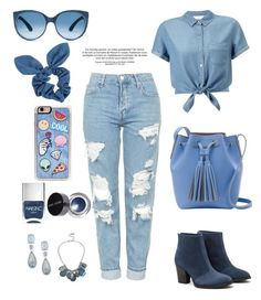 """""""Jeans"""" by kayz-passion-for-fashion ❤ liked on Polyvore featuring Topshop, Miss Selfridge, Aquatalia by Marvin K., Dorothy Perkins, Zero Gravity, Nails Inc., Bobbi Brown Cosmetics, Anne Klein and Kenneth Cole"""