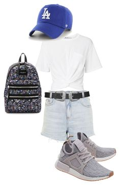 """""""Weekend: Theme Park"""" by alvinaginting on Polyvore featuring T By Alexander Wang, Topshop, adidas Originals, '47 Brand and Marc Jacobs"""