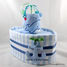 Nautical diaper cake - boat