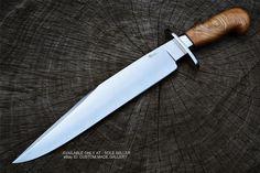 Sean Austin Custom Handmade D2 Steel Bowie Knife Olive Wood 17''  | eBay