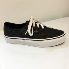 Vans shoes Vans Glitter Black Lace Up Shoes Women's size 6 Vans Shoes Sneakers