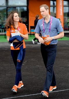 William & Catherine walking in sync with matching shoes. Catherine Duchess of Cambridge, aka Kate Middleton