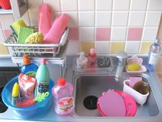 Barbie cleaning supplies
