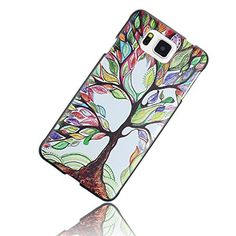Moon mood® Polycarbonate Hard Back Case for Samsung Galaxy Alpha G850 Retro Vintage Pattern Design Plastic Lithe Slim Body Black Frame Border Cover Shell Free with a Pink Stylus Touchscreen Pen and a 3.5mm Universal Lake Green Sapphire Blue Alloy Crystal Diamond Rhinestones Butterfly Pendant Dust Plug (Colorful Painting Tree)