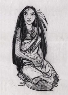 Pocahontas concept art by Glen Keane  Nothing quite like concept art. I've been obsessed with it since I was a kid.