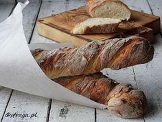 Rustykalne bagietki pszenne Waffles, Breads, Food, Bread Rolls, Eten, Bread, Braided Pigtails, Waffle, Bakeries