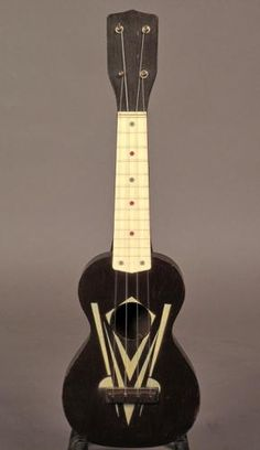 I need this for coffee shop gigs...  1950s Harmony Art Deco Soprano - Buffalo Bros Guitars