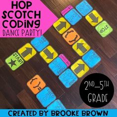 "***25% OFF FOR THE FIRST 48 HOURS ONLY! PRICE WILL INCREASE TO $4.00 AT 8:00am CST ON THURSDAY, NOVEMBER 14.***It's the perfect ""Big Kids"" version of Hop Scotch Coding, featuring your students' favorite dance moves! Your second through fifth graders will LOVE this brand new edition of Hop Scotch Cod..."
