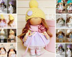 Decor doll Tilda doll Interior doll Rag doll por AnnKirillartPlace