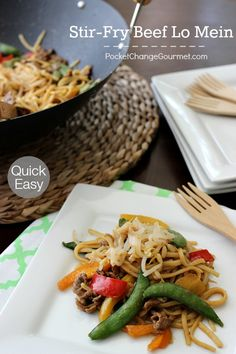 Stir-Fry Beef Lo Mein   Quick and Easy Weeknight Meal   Recipe on ...