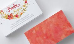 Business Card Design Watercolor Wreath by SmallBottleCreations