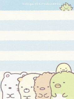 "San-X Sumikko Gurashi ""Portrait"" Mini Memo Pen Pal Letters, Snail Mail, Any Images, Cute Wallpapers, Notes, Kawaii, Japanese, Mini, Projects"