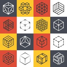 Architecture company logo templates Graphics Architecture and interior studios or construction company line logo templates with isometric cube by Microvector Architecture Company, Architecture Logo, Building Architecture, Isometric Cube, Square Logo, Cube Design, Artwork Images, You Draw, Creative Sketches