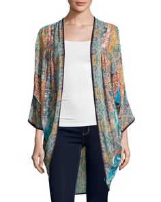 Shara Printed Wrap Jacket