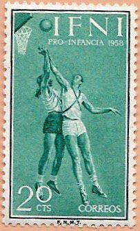 Sello Ifni de 20 céntimos, Pro Infancia, 1958 - Portal Fuenterrebollo