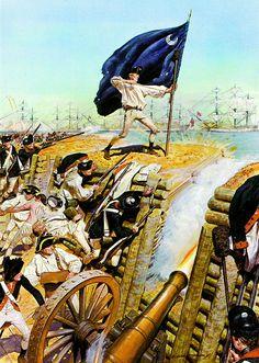Battle of Charleston, Revolutionary War Illustration Revolutionary War Battles, American Revolutionary War, American Civil War, Early American, American History, Independence War, American Independence, Continental Army, Sullivans Island