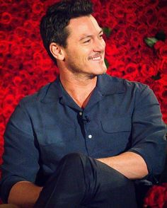 Luke Evans at Beauty and the Beast press conference