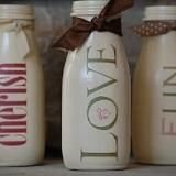 DIY Easy Crafts With Starbucks Glass Bottles Ideas 37 milk bottle crafts painted vases 25 Simple but Beautiful Crafts With Starbucks Glass Bottles Ideas - OnDIYiDeas Easy Diy Crafts, Jar Crafts, Cute Crafts, Crafts To Make, Starbucks Glass Bottles, Milk Bottles, Frappuccino Bottles, Starbucks Frappuccino, Milk Jugs