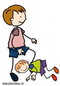 Bewegingskaarten voor kleuters, onder een poortje doorkruipen, kleuteridee.nl, free printable moving cards for preschool