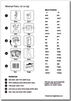 Raise or rage? These minimal pairs help practice the difference, targeting the sounds while having fun with pronunciation. Print and use this activity sheet for greatly interactive lessons!