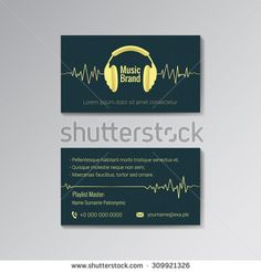 Business card template for music DJ, music store, clubs etc.