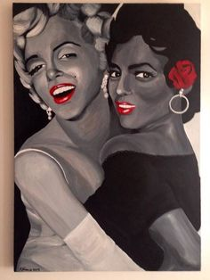 A very talented artist by the name of Rachael Francis said that something I wrote inspired her to create this masterpiece of two great friends, Dorothy Dandridge and Marilyn Monroe.