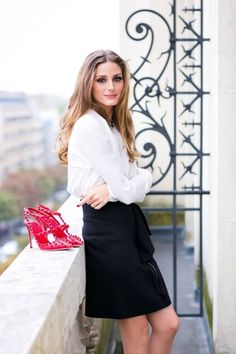 uptown girl style - flowy skirt and button down shirt