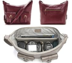 "Ona Venice Leather...Pricey but plenty of room for iPad and camera parts. 14.5""L x 13""W x 5""D"