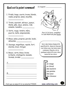 French Worksheets, French Immersion, Lectures, Learn French, Grammar, Teaching Resources, Writing, Learning, Cycle 3