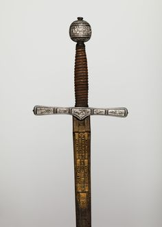 Blade signed by Clemens Horn | Cross Hilt Sword | hilt, British, London; blade, German, Solingen | The Met