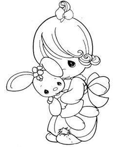 Precious Moments Coloring Pages Little Cuddle Doll