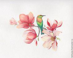 Blossom. Traditional art ( watercolor). Prof. paper: Canson Fontenay 300 g/м2 (cotton). Svetlana Markina (LechuzaS) Size:21cm*16cm