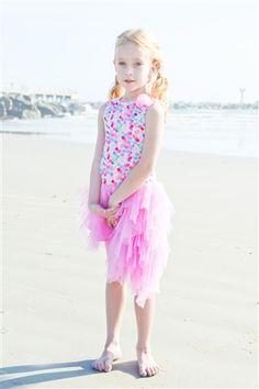 Kate Mack - Colorful Dots Asymmetrical Dress Spring 2015
