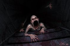 Basement Dweller by : creepy Creepy Images, Creepy Pictures, Spooky Scary, Creepy Art, Arte Horror, Horror Art, Horror Movies, The Dark Side, Creepy Monster
