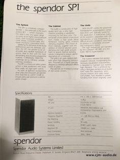 Spendor SP-1 Lautsprecher in excellentem Erhaltungszustand im Originalzustand. Aufeinanderfolgende Seriennummern. Die passenden Ständer könnten gegen Aufpreis ebenfalls erworben werden. Seltene Gelegenheit aus 1986!