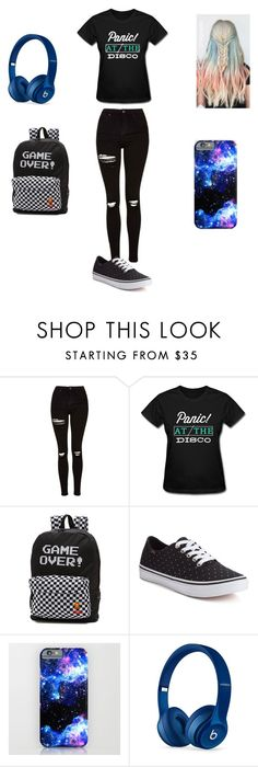"""Untitled #121"" by maya-03-b on Polyvore featuring Topshop, Vans and Beats by Dr. Dre"