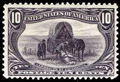 US Postage Stamps 290 Trans Mississippi Hardships of Emigration
