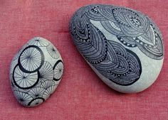 all you need is a rock and a pen.every therapist should have this in their office for anxious clients (in my humble opinion, of course ;) Get on it peeps! Pebble Painting, Pebble Art, Stone Painting, Rock Painting, Rock Crafts, Arts And Crafts, Sticks And Stones, Crafty Craft, Stone Art