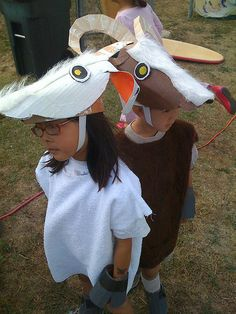 """Made 18 of these for the school performance of """"Little Goatherd"""""""