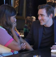 #mindykaling: You'd be gasping too if this guy was touching your arm. #leepace