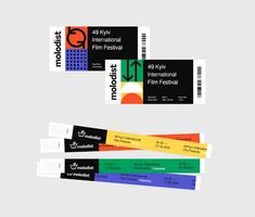 """The Kyiv International Film Festival """"Molodist"""" is the largest contemporary film festival in Ukraine with 50 years of history. Graphic Design Posters, Graphic Design Illustration, Graphic Design Inspiration, Web Design, Layout Design, Logo Design, Ticket Design, 2 Logo, Event Branding"""