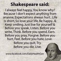 Shakespeare said..