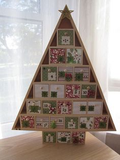 Wooden Christmas Tree Advent Calendar 2011 by queenvanna creations, via Flickr