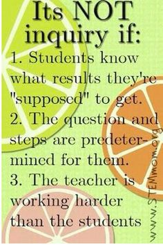 Inquiry Based Learning!