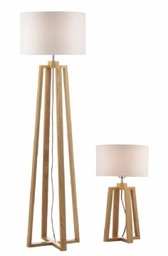 Dar 'Pyramid' Table and Floor Lamp Set http://www.litespot.co.uk/darpyr4943.asp