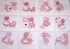 INSTANT DOWNLOAD 24 Sunbonnet Sue Lacy Machine by embroiderygirl